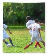 Soccer Ball In Play Fleece Blanket