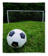 Soccer Ball On Field Fleece Blanket