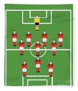 Soccer Team Football Players Fleece Blanket