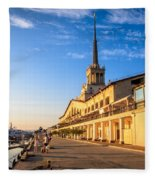 Sochi Sea Port Fleece Blanket