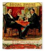 Social Smoke Vintage Cigar Advertisement Fleece Blanket