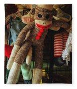 Sock Monkey Fleece Blanket