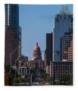 So Co View Of The Texas Capitol Fleece Blanket