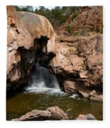 Soda Dam In New Mexico Fleece Blanket