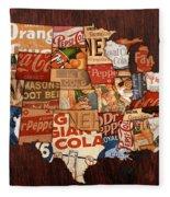 Soda Pop America Fleece Blanket