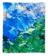 Sodium Thiosulphate Microcrystals Colorful Art Fleece Blanket