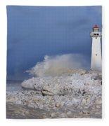 Sodus Bay Lighthouse Fleece Blanket