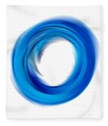 Soft Blue Enso - Abstract Art By Sharon Cummings Fleece Blanket