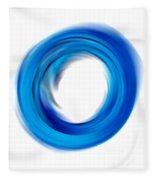 Soft Blue Enso - Abstract Art By Sharon Cummings Fleece Blanket