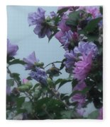 Soft Blues And Pink - Spring Blossoms Fleece Blanket
