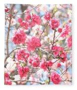 Soft Colors Of Spring Fleece Blanket