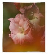 Soft Gladiolus Fleece Blanket