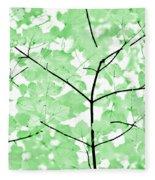 Soft Green Leaves Melody Fleece Blanket