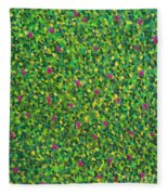 Soft Green With Pink  Fleece Blanket