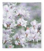 Soft Lavender Dancing Azalea Flowers Fleece Blanket