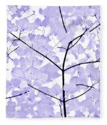 Soft Lavender Leaves Melody Fleece Blanket