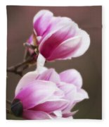 Soft Magnolia Blossoms Fleece Blanket