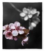 Soft Pink Blossom Fleece Blanket
