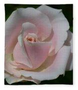 Soft Pink Rose Fleece Blanket