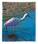 Soft Pink Spoonbill Fleece Blanket