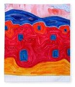 Soft Pueblo Original Painting Fleece Blanket