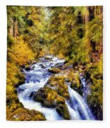 Sol Duc Falls Fleece Blanket