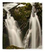Sol Duc River Cascade Fleece Blanket