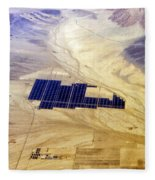 Solar Panels Aerial View Fleece Blanket