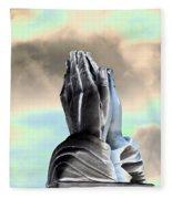 Solar Praying Hands Fleece Blanket