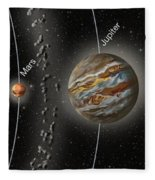 Solar System Orbits, Illustration Fleece Blanket