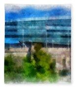 Soldier Field Chicago Photo Art 01 Fleece Blanket
