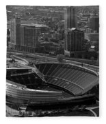 Soldier Field Chicago Sports 05 Black And White Fleece Blanket