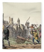 Soldiers And Artillery Of The 15th Fleece Blanket