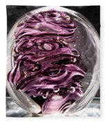 Solid Glass Sculpture Rp5 - Purple And White Fleece Blanket