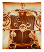 Solid Gold Mercedes Fleece Blanket