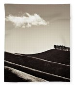 Solitary Cloud Fleece Blanket