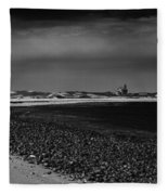 Solitary Lighthouse Fleece Blanket