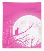 Solitary Pink Background Fleece Blanket
