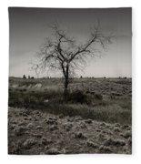 Solitary Tree Fleece Blanket