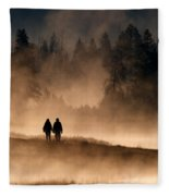 Solitude For Two Fleece Blanket