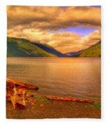 Solitude On Crescent Lake Fleece Blanket