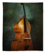 Solo Upright Bass Fleece Blanket