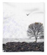 Somber Flight Wc Fleece Blanket