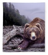 Some Days You Eat The Bear Some Days The Bear Eats You Fleece Blanket