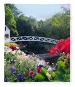 Somesville Bridge And Home Fleece Blanket