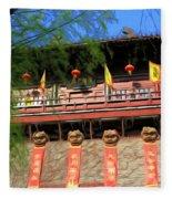 Song Dynasty Town In Dali 2 Fleece Blanket