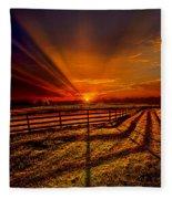 Song Of The Setting Sun Fleece Blanket