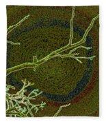Songbird Green Fleece Blanket