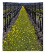 Sonoma Mustard Grass Fleece Blanket