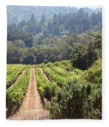Sonoma Vineyards In The Sonoma California Wine Country 5d24518 Fleece Blanket